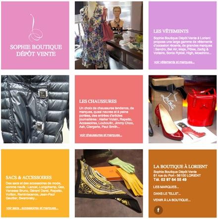 Sophie boutique depot vente Lorient Vetements et accessoires de luxe