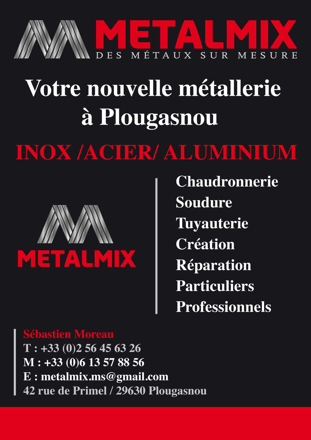 Metalmix Chaudronnerie Metallerie Inox Acier Alu Plougasnou Morlaix